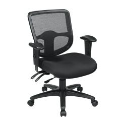 Office Star(TM) Pro Line II Pro Grid Ergonomic Task Chair With Adjustable Arms, Coal