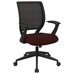 Office Star (TM) Work Smart Mesh Task Chair, Merlot/Black