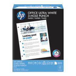 HP Office Paper, 3-Hole Punched, Letter Paper Size, 20 Lb, Ream Of 500 Sheets