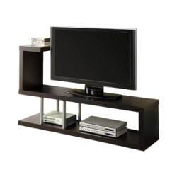 Monarch Specialties Hollow-Core TV Stand, For Flat-Panel TVs Up To 47in., Cappuccino