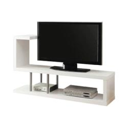 Monarch Specialties Hollow-Core TV Stand, For Flat-Panel TVs Up To 47in., White