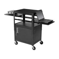 Balt (R) Dual Adjustable Laptop Cart, Black