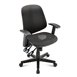 Realspace(R) Frespi Multifunction Mesh Mid-Back Chair, Black
