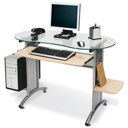 Bon Office Depot Brand Glass Top Desk