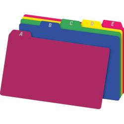 Office Depot(R) Brand A-Z Index Card Guides, 4in. x 6in., Assorted Colors, Pack Of 25