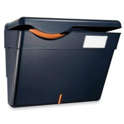 OIC(R) Security Wall File With Lid, Letter Size, Black