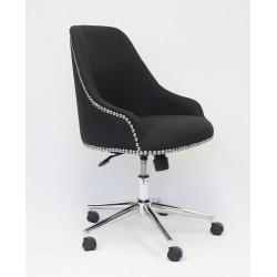 Boss Office Products Carnegie Fabric Mid-Back Desk Chair, Black/Chrome