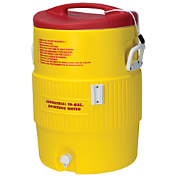 Igloo(R) Heat-Stress Solution 10-Gallon Water Cooler, Red/Yellow