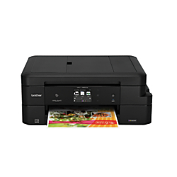 Brother Work Smart Wireless Color Inkjet All-In-One Printer, Copier, Scanner, Fax, With 12 INKvestment Cartridges, MFC-J985DW XL