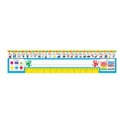 TREND Desk Toppers(R) Reference Name Plates, Zaner-Bloser, 3 3/4in. x 18in., Grades Pre-K-1, 36 Plates Per Pack, Set Of 3 Packs