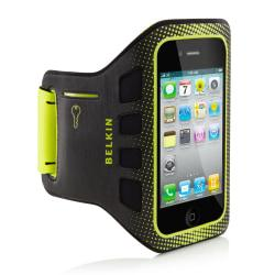 Belkin (TM) Easefit Armband For iPhone (R) 4, Black\/Lime