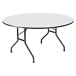 Iceberg Premium Wood Laminate Folding Table, Round, 29in.H x 60in.W x 60in.D, Gray