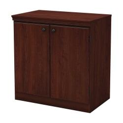 South Shore Morgan 2-Door Storage Cabinet, Royal Cherry