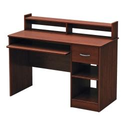 south shore furniture axess small desk royal cherry shop your way