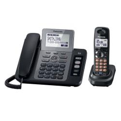 Panasonic KX-TG9471B DECT 6.0 Digital 2-Line Corded/Cordless Phone System With Digital Answering
