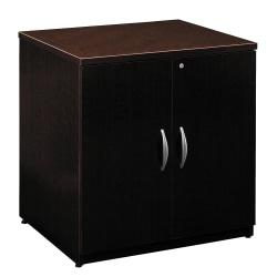 Bush Business Furniture Components Storage Cabinet, 30in.W, Mocha Cherry, Premium Installation