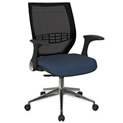 Office Star(TM) Pro-Line II ProGrid Fabric High-Back Chair, Blue Galaxy/Black/Silver