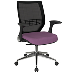 Office Star(TM) Pro-Line II ProGrid Fabric High-Back Chair, Fabric Purple/Black/Silver