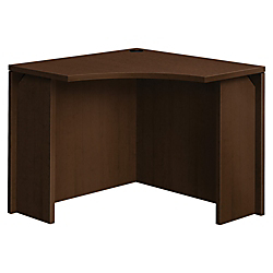 HON 10500 Series Curved Corner Desk - 36in. x 35.9in. x 29.1in., Edge, 36in. x 36in. Work Surface - Square Edge - Material: Wood Grain Work Surface, Particleboa