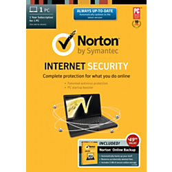 Norton Internet Security(TM) 21.0 1-Year Subscription With Norton Online Backup, For 1 PC, Traditional Disc