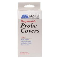 MABIS Disposable Probe Covers For Digital Thermometers, Pack Of 50