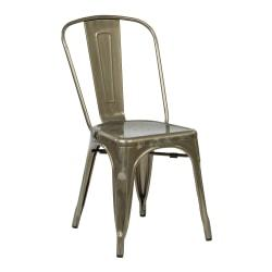 Office Star(TM) Bristow Armless Chair, Gunmetal, Set Of 2 Chairs