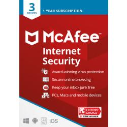 McAfee(R) Internet Security, For 3 Devices, For PC/Mac, eCode