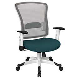 Office Star(TM) Space Seating Mesh Mid-Back Chair, Mesh Blue/White