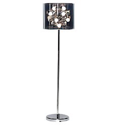 Adesso(R) Starburst Floor Lamp, 60in.H, Chrome