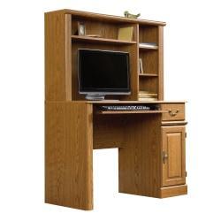 Sauder(R) Orchard Hills Computer Desk With Hutch, 42 5/8in. W, Carolina Oak