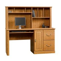 Sauder(R) Orchard Hills Computer Desk, 57 1/4in.H x 58 3/4in.W x 23 1/2in.D, Carolina Oak