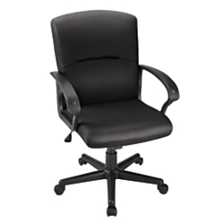 Brenton Studio (R) Mid-Back Fabric Task Chair, Black