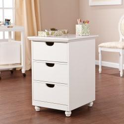 Anna Griffin Home Office 3-Drawer Storage Organizer, Antique White/Warm Cream