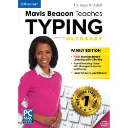 Mavis Beacon Teaches Typing Powered by UltraKey - Family Edition, Download Version