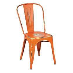 Office Star(TM) Bristow Armless Chairs, Antique Orange, Set Of 2 Chairs
