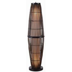 Kenroy Home Biscayne Outdoor Floor Lamp, 51in.H, Tan/Black