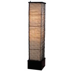 Kenroy Home Trellis Outdoor Floor Lamp, 51in.H, Black/Cream Shade, Bronze Base