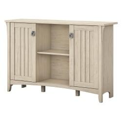 Bush Furniture Salinas Storage Cabinet With Doors, Antique White, Standard Delivery