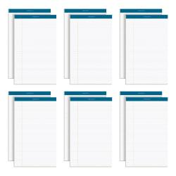 TOPS(TM) Double Docket(TM) Writing Pads, 8 1/2in. x 14in., Legal Ruled, 50 Sheets, White, Pack Of 12 Pads