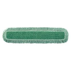 Rubbermaid(R) HYGEN(TM) Microfiber Dust Mops, 36in. Head, Green, Pack of 6 Dust Mops