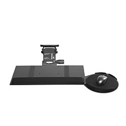 KellyREST (TM) Leverless Lift N' Lock Standard Keyboard Tray With Oval Mouse Platform, Black