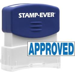 Stamp-Ever Pre-inked APPROVED Stamp - Message Stamp - APPROVED - 0.56in. Impression Width x 1.69in. Impression Length - 50000 Impression(s) - Blue - 1 Each