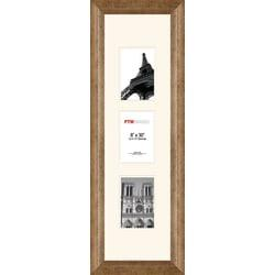 PTM Images Photo Frame, 3 Opening Collage, 11 1/2in.H x 2in.W x 33 1/2in.D, Champagne