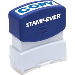Stamp-Ever Pre-inked Blue Copy Stamp - Message Stamp - COPY - 0.56in. Impression Width x 1.69in. Impression Length - 50000 Impression(s) - Blue - 1 Each