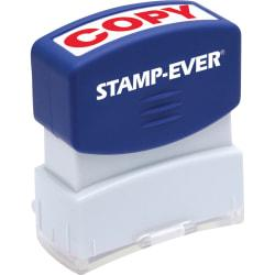 Stamp-Ever Pre-inked Red Copy Stamp - Message Stamp - COPY - 0.56in. Impression Width x 1.69in. Impression Length - 50000 Impression(s) - Red - 1 Each