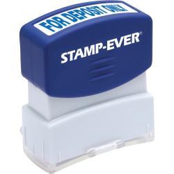 Stamp-Ever Pre-inked For Deposit Only Stamp - Message Stamp - FOR DEPOSIT ONLY - 0.56in. Impression Width x 1.69in. Impression Length - 50000 Impression(s) - Bl
