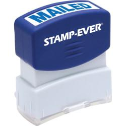 Stamp-Ever Pre-Inked One-Clear Mailed Stamp - Message Stamp - MAILED - 0.56in. Impression Width x 1.69in. Impression Length - 50000 Impression(s) - Blue - 1 Eac