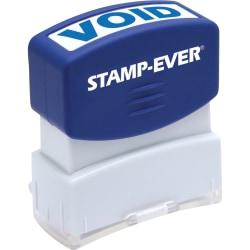 Stamp-Ever Pre-inked One-Clear Void Stamp - Message Stamp - VOID - 0.56in. Impression Width x 1.69in. Impression Length - 50000 Impression(s) - Blue - 1 Each