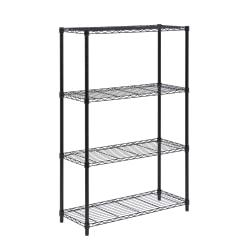 Honey-Can-Do Urban Steel Adjustable Storage Shelving Unit, 4-Tiers, 54in.H x 14in.W x 36in.D, Black