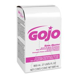 Gojo Spa Bath Body and Hair Shampoo, 800 mL, Bag-in-Box Refill, Herbal, 12 refills per Case, Sold by the Case